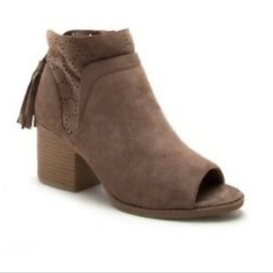 Qupid Open toed ankle boots